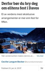 Elitens fest i Davos