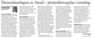 KK- Art om demonisering av Assad