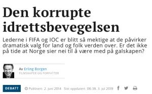 Den korrupte idrettsbevegelsen, Erl Borgen