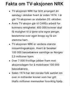 Fakta om TV-aksjonen
