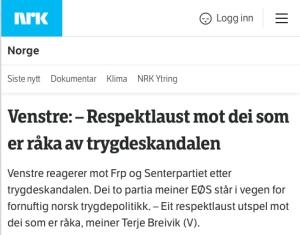 Venstre- Respektlaust
