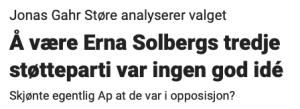 Marie Simonsen om Støre