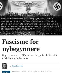 Bromark og nazismen