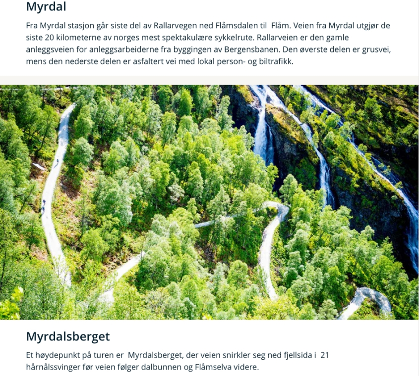 Hårnålsvingene fra Myrdal