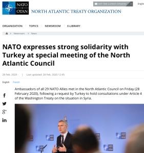 Nato støtter tyrkia