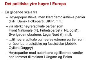 Det politiske ytre høyre i Europa, Bjørgo