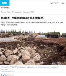 Miljøskandale på Sjusjøen