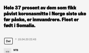 37 % er innvandrere, Somalia