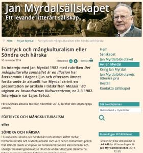 Jan Myrdal selskapet