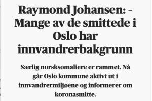 Raymond. Mange av de smitta er somaliere