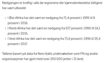 NRK om omskjæring i Afrika