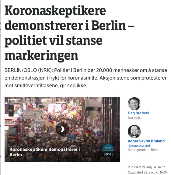 NRK om koron i berlin